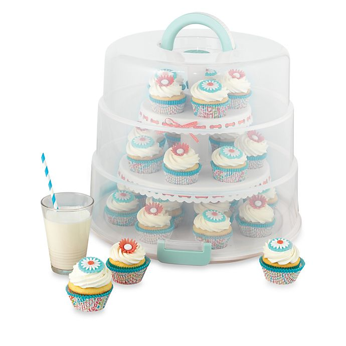 Alternate image 1 for Sweet Creations™ Collapsible Cupcake and Cake Pop Carrier