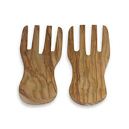 Berard Olive Wood Curved Salad Server Hands (Set of 2)