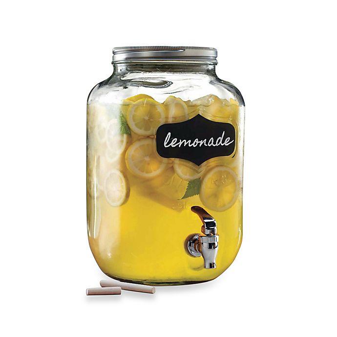 Alternate image 1 for Yorkshire 2-Gallon  Mason Chalkboard Beverage Dispenser