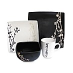 American Atelier Blossom Branch 16-Piece Dinnerware Set in Brown/White