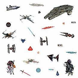 RoomMates® 27-Piece Star Wars Episode IX Galactic Ships Peel and Stick Wall Decal Set