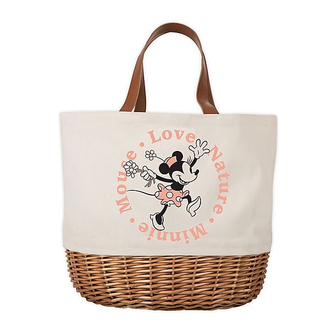 Alternate image 1 for Disney® Minnie Mouse Promenade Picnic Basket with Service for 2 in Beige