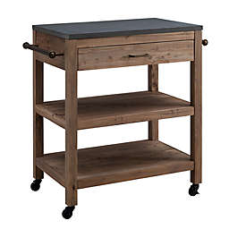 Southern Enterprises Culmore Rolling Kitchen Island with Storage
