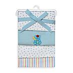 Spasilk® & Bear Flannel Receiving Blanket (4-Pack)
