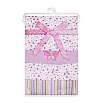 Spasilk® Butterfly 4-Pack Flannel Receiving Blanket