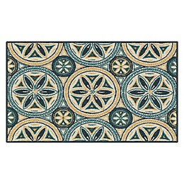 Maples™ Medallion 1'6 x 2'8 Accent Rug in Blue