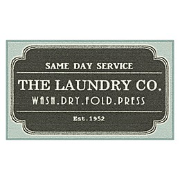 Maples™ Laundry 1'6 x 2'8 Accent Rug in Grey