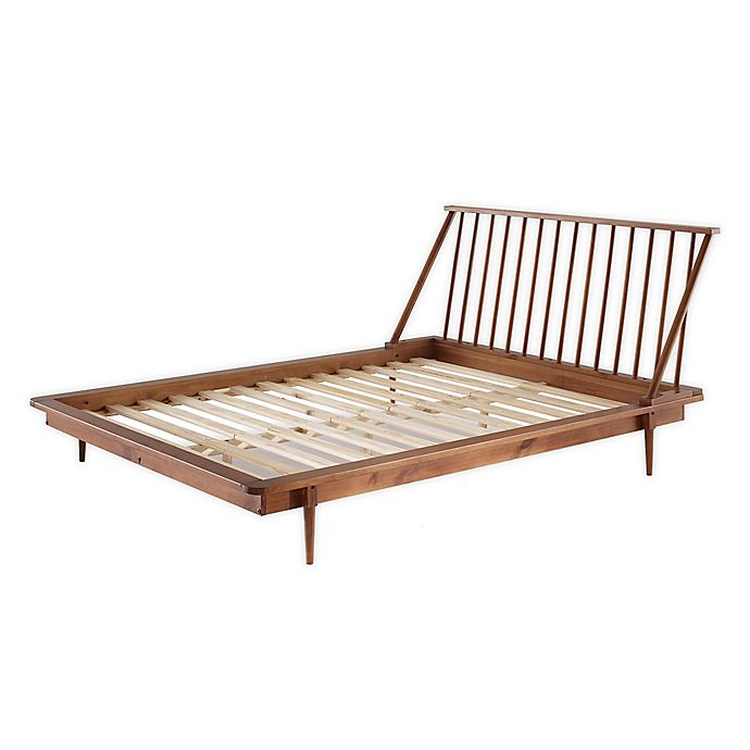 Forest Gate Solid Wood Mid Century Queen Platform Bed Bed Bath