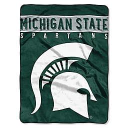 Michigan State University Raschel Plush Throw Blanket