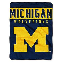 University of Michigan Raschel Plush Throw Blanket