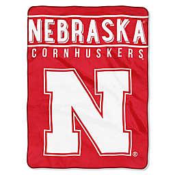 University of Nebraska Raschel Plush Throw Blanket