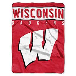 University of Wisconsin Raschel Plush Throw Blanket