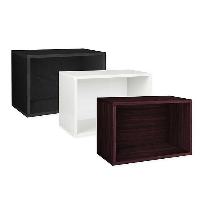 Alternate image 1 for Way Basics Tool-Free zBoard Assembly Stackable Rectangle Storage Shelf and Bookcase