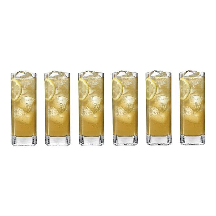 Alternate image 1 for Luigi Bormioli Strauss SON.hyx Square Highball Glasses (Set of 6)