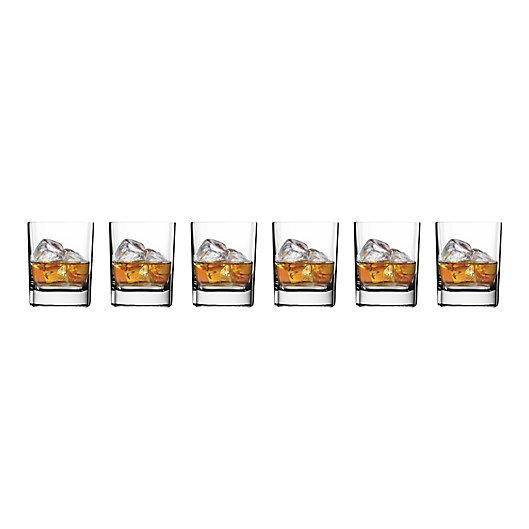 Alternate image 1 for Luigi Bormioli Strauss SON.hyx  Square Double Old Fashioned Glass (Set of 6)