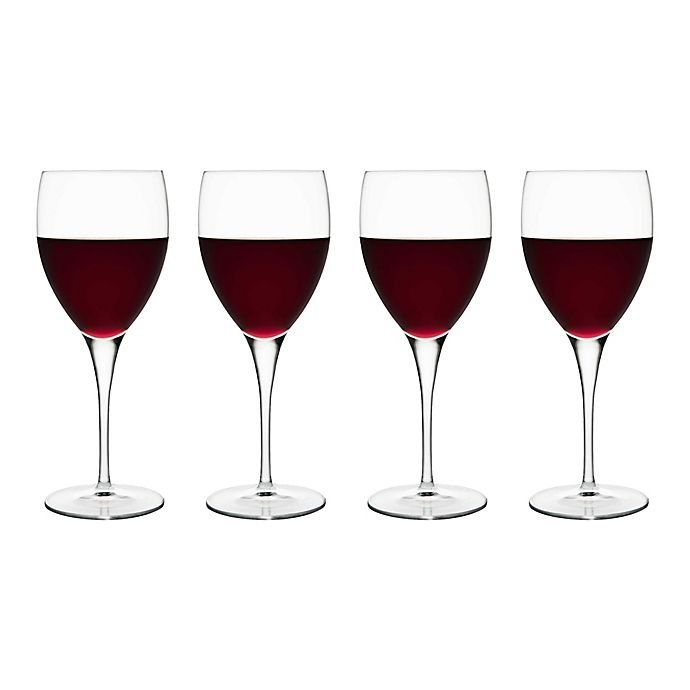 Alternate image 1 for Luigi Bormioli Michelangelo Masterpiece Gold Label Sparkx® Red Wine Glasses (Set of 4)