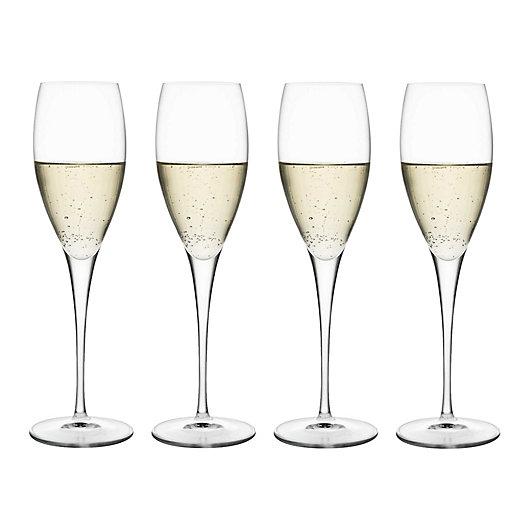 Alternate image 1 for Luigi Bormioli Masterpiece Gold Label Sparkx® Prosecco Wine Glasses (Set of 4)