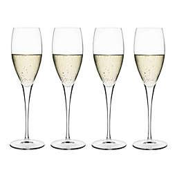 Luigi Bormioli Masterpiece Gold Label Sparkx® Prosecco Wine Glasses (Set of 4)