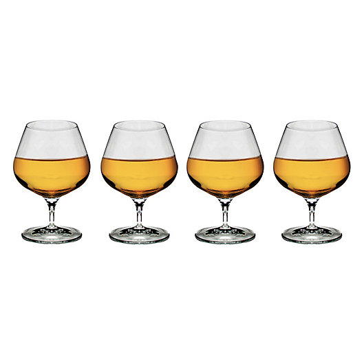 Alternate image 1 for Luigi Bormioli Michelangelo Masterpiece Sparks Brandy Glasses (Set of 4)
