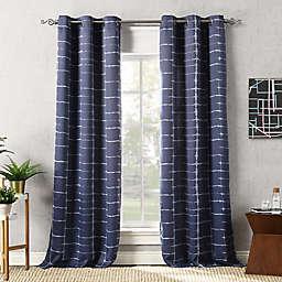Sun Zero® Saki Shibori Print Room Darkening Grommet Curtain Panel