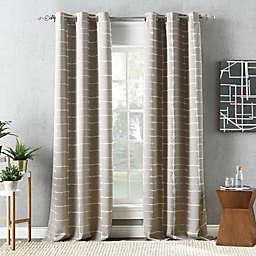 Sun Zero® Saki Shibori Print 63-Inch Room Darkening Curtain Panelin Stone (Single)