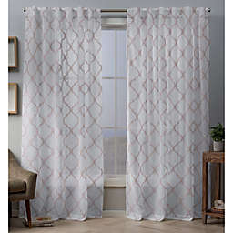 Aberdeen 96-Inch Hidden Tab Window Curtain Panel Pair in Blush