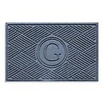 Weather Guard™  Diamonds Monogrammed  G  23-Inch x 35-Inch Door Mat in Bluestone