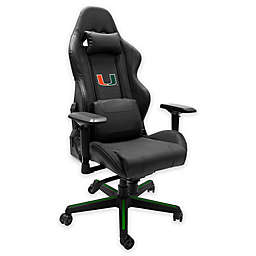 University of Miami Xpression Gaming Chair with Hurricanes Logo