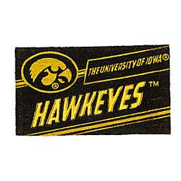 """University of Iowa 16"""" x 28"""" Coir Punch Door Mat"""