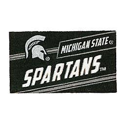 "Michigan State University 16"" x 28"" Coir Punch Door Mat"