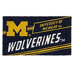 """University Of Michigan 16"""" x 28"""" Coir Punch Door Mat"""