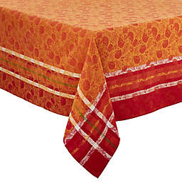 Saro Lifestyle Harvest Pumpkin Tablecloth in Orange