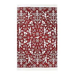 Christmas Carol Dish Towel in Red