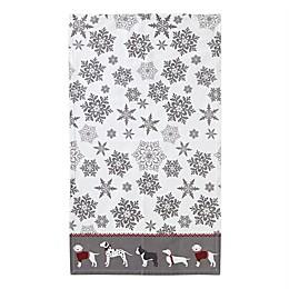 Fa La La Dogs Dish Towel in White/Grey
