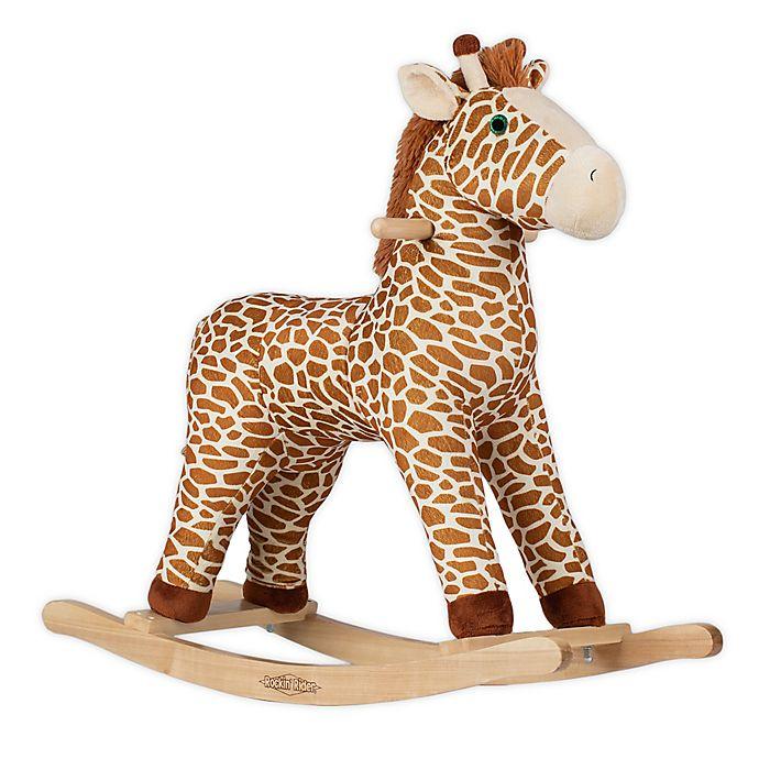 Alternate image 1 for Rockin' Rider® Gerry the Rocking Giraffe Ride-On in Beige