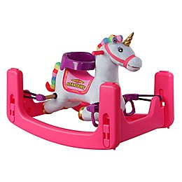 Rockin' Rider® Starlight Grow-With-Me Unicorn Ride-On in White