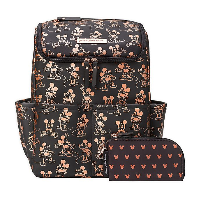 Alternate image 1 for Petunia Pickle Bottom® Metallic Mickey Mouse Method Diaper Backpack