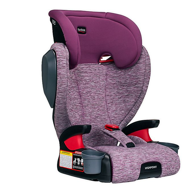 Alternate image 1 for Britax® Highpoint™ 2-Stage Belt-Positioning Booster Car Seat in Mulberry