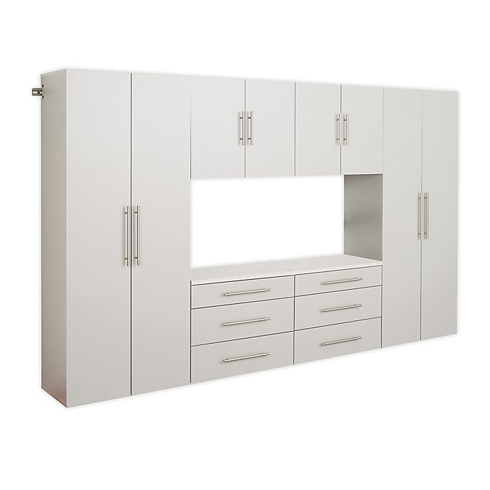 Alternate image 1 for Prepac HangUps 120-Inch 6-Piece Storage Cabinet Set I in Light Grey