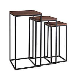 Southern Enterprises© Martlane Square Nesting Table Set in Black (Set of 3)