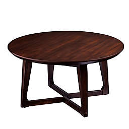 Holly & Martin® Meckland Round Cocktail Table in Dark Walnut