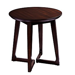 Holly & Martin® Meckland Round End Table in Dark Walnut