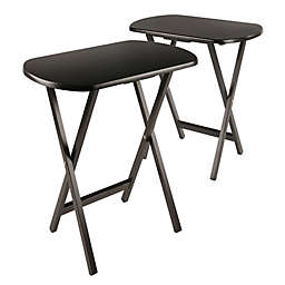 Cade Oblong Snack Tables in Coffee (Set of 2)