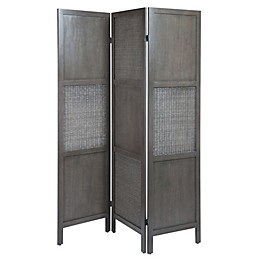 Winsome™ Ramie Folding Screen in Oyster Grey