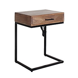 Global Caravan™ Khilana 1-Drawer End Table with USB Ports in Black