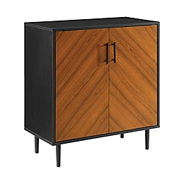 Forest Gate™ Jade Bookmatch Accent Cabinet in Black