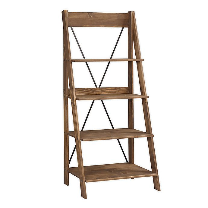 Alternate image 1 for Forest Gate Farmhouse Solid Wood Ladder Bookshelf