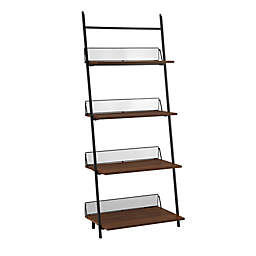 Forest Gate 64-Inch Industrial Leaning Wall Mounted Bookcase