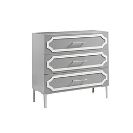 Madison Park Heldt 3-Drawer Accent Chest in Grey