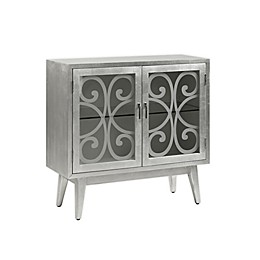 Madison Park Macey 2-Door Accent Cabinet in Silver Grey